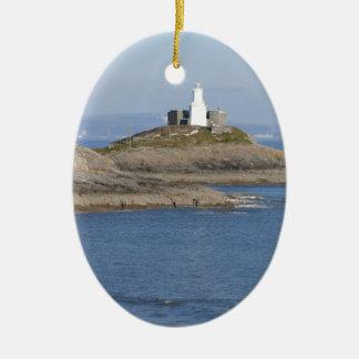Mumbles Lighthouse, Mumbles Ceramic Ornament