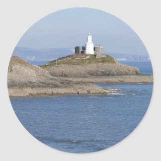 Mumbles Lighthouse, Mumbles Classic Round Sticker