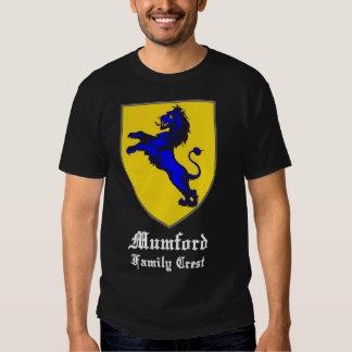 mumford family crest coat of arms black t-shirt