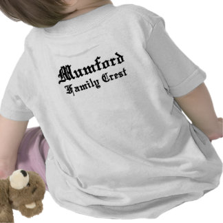 mumford family crest coat of arms two side tee shirts