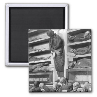 Mummies in the Palermo catacombs, Italy 2 Inch Square Magnet