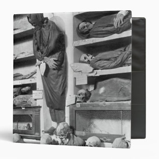 Mummies in the Palermo catacombs, Italy 3 Ring Binder