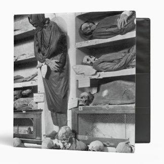 Mummies in the Palermo catacombs, Italy Vinyl Binders
