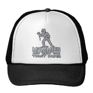 mummies just want your toilet paper funny tshirt mesh hat