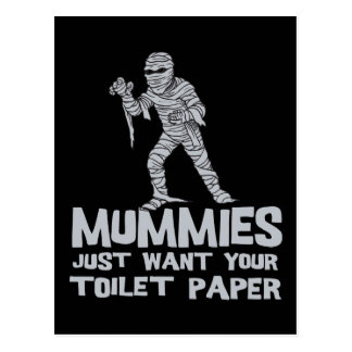 mummies just want your toilet paper funny tshirt postcard