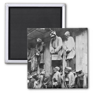 Mummies of catacomb in Palermo, Italy 2 Inch Square Magnet