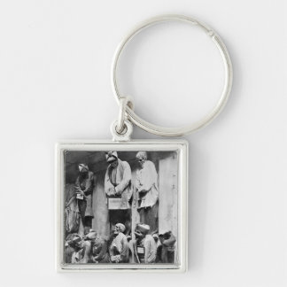 Mummies of catacomb in Palermo, Italy Keychain