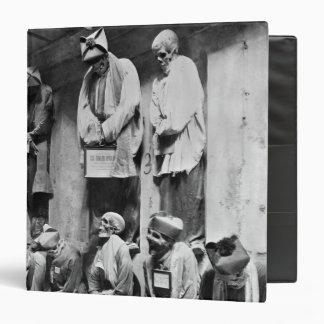 Mummies of catacomb in Palermo, Italy Vinyl Binder