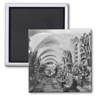 Mummies of catacomb of Palermo, Italy 2 Inch Square Magnet