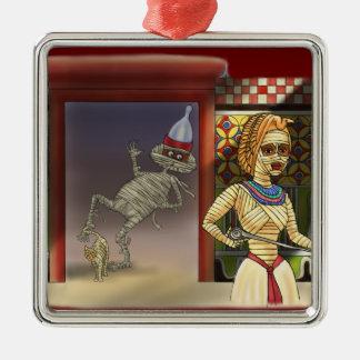 Mummific and Mrs Metal Ornament