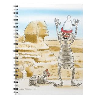 Mummific Egipto Spiral Notebook
