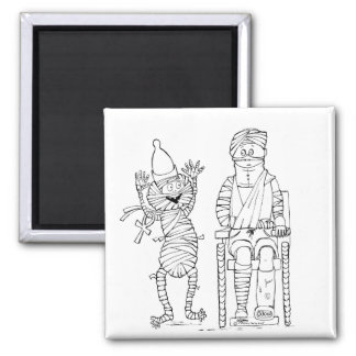 Mummific Get Well 2 Inch Square Magnet