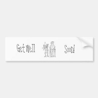 Mummific Get Well Bumper Sticker