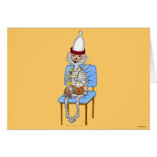 Mummific Pharaoh Greeting Card