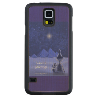 Mummific Season's Greetings Carved Maple Galaxy S5 Case