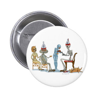 Mummific Skeleton Dinner Button
