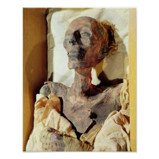 Mummified body of Ramesses II  found in a tomb Poster