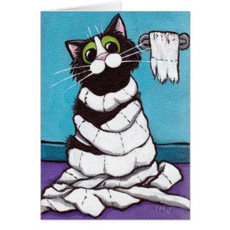 Mummified Cat Card