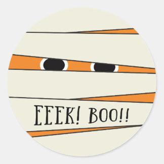 Mummified Halloween in Pumpkin Sticker