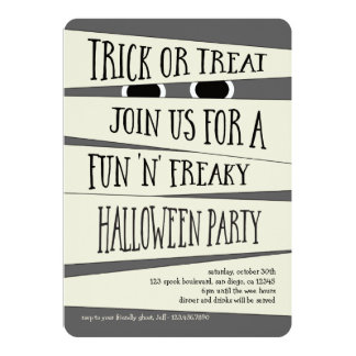 Mummified Halloween Party Invitation