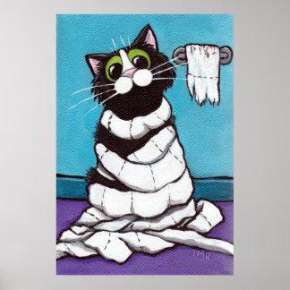 Mummified - Whimsical Cat Print