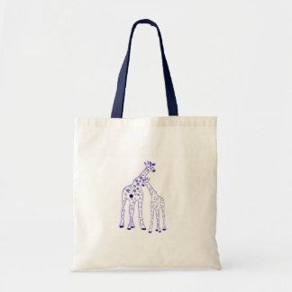 mummy and baby giraffe tote bag