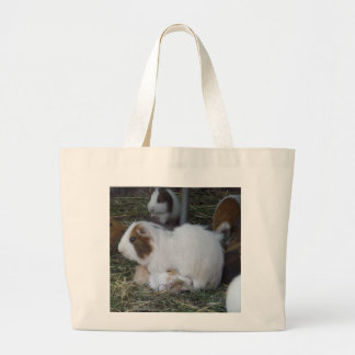 Mummy_And_Baby_Guinea_Pig Large Tote Bag
