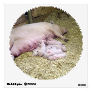 Mummy_And_Baby_Newborn_Piglets,_Wall_Decal Wall Sticker
