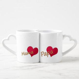 Mummy and dad coffee mug set