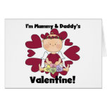 Mummy and Daddy's Valentine - Girl Cupid Cards