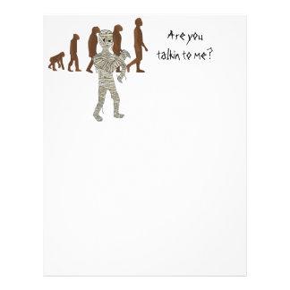 Mummy and Evolution Guys, Customize Me! Letterhead