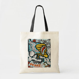 mummy and snake tote canvas bag