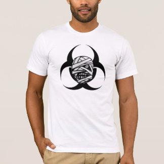 Mummy Apocalypse Biohazard B/W T-shirt
