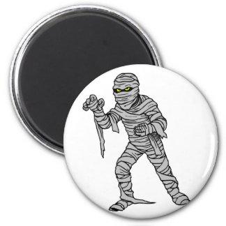 Mummy Attack 2 Inch Round Magnet