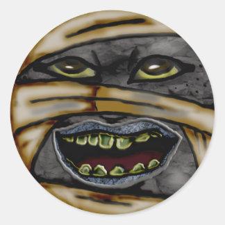 mummy classic round sticker
