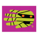 Hand shaped Mummy Egypt Postcard