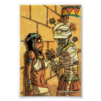 Mummy Flowers - Print