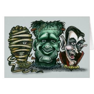 Mummy Frankenstein Dracula Card