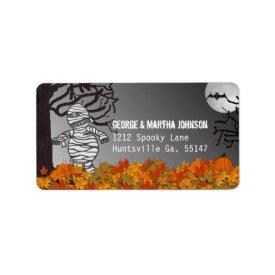 Mummy: Halloween Address Stickers