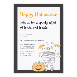 Mummy Halloween Party Invitation