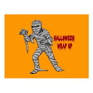 Mummy Halloween Wrap Up Postcards