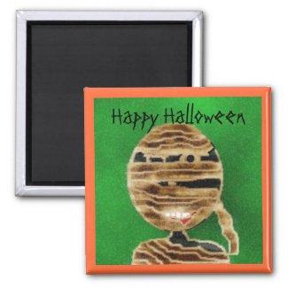 mummy, Happy Halloween magnet