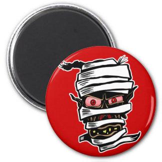 Mummy Head 2 Inch Round Magnet