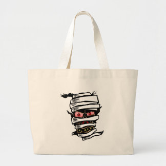 Mummy Head Large Tote Bag