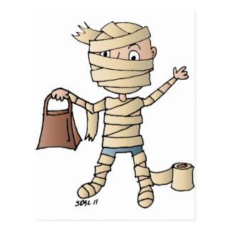 mummy kid postcard