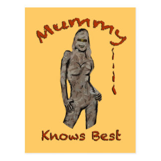 Mummy Knows Best Notecard Postcard