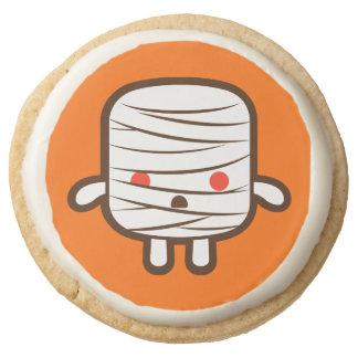 Mummy marshmallow round shortbread cookie