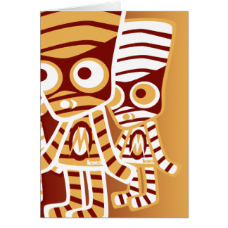 Mummy Mascot Greeting Card