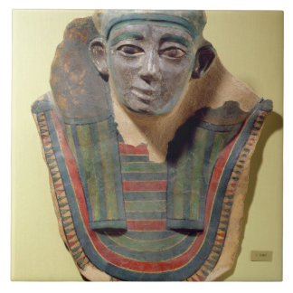 Mummy mask, from Mirgissa (stuccoed and painted pl Ceramic Tile