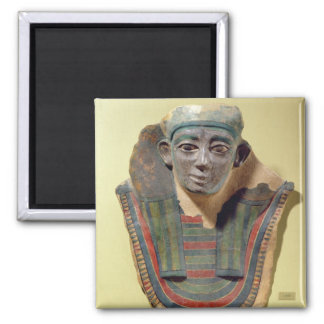 Mummy mask, from Mirgissa (stuccoed and painted pl Magnet
